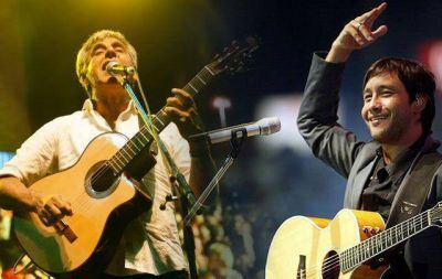 Peteco y Luciano Pereyra, en la segunda noche de Cosquín
