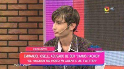 El supuesto hacker de los famosos apareció en la TV