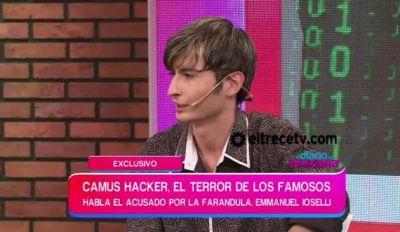 """El """"hacker"""" fue a la tele y a la salida se lo llevó la policía"""