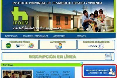 Comienza operativo de reempadronamiento on-line para aspirantes a viviendas