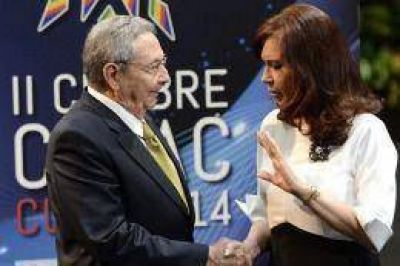 Cumbre de la Celac: Ra�l Castro se solidariz� con Argentina por Malvinas