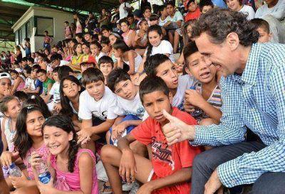 Katopodis encabezó el cierre de la Colonia de Verano en San Martín