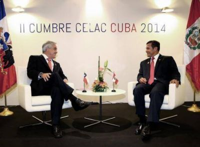 Piñera y Humala acordaron implementar gradualmente el fallo de la Corte Internacional de La Haya