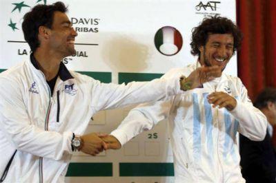 Copa Davis: Argentina enfrenta a Italia con el anhelo de mantenerse en la elite