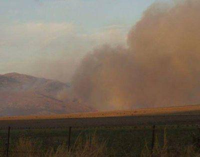 Fue controlado el incendio en el sector serrano