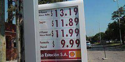 Shell aplicó aumentos y el litro de nafta cuesta $13,19 en Formosa
