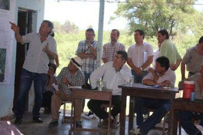 Bañado la Estrella: el gobierno analiza variantes de obras para garantizar la llegada del agua al riacho El Salado