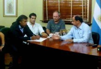 Temporal: Guacone se reunió con funcionarios provinciales