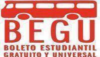 BEGU: Abren las inscripciones para el boleto estudiantil