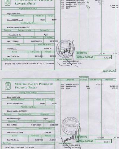 El Frente Renovador del distrito publicó sus salarios mensuales