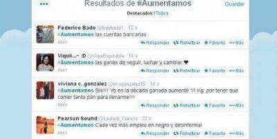 #Aumentamos: la palabra m�s usada en el discurso de Cristina es trending topic