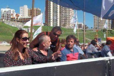 Juan Curuchet en la competencia de rescate de los Guardavidas