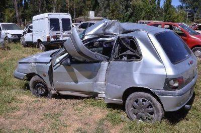 Joven murió al chocar su auto contra un poste en Neuquén