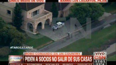 Golpe comando a cinco casas del country Los Lagartos de Pilar