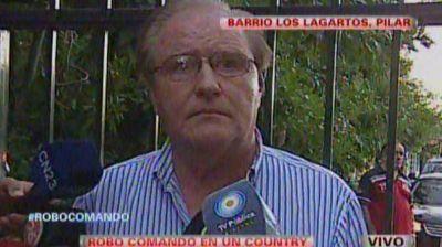 En el country asaltado vive un ex jefe de la SIDE