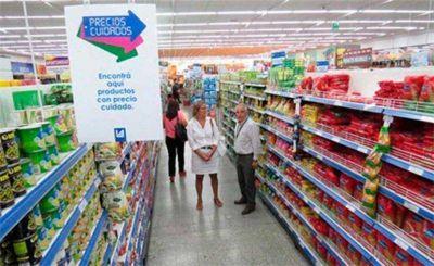 La intendenta en los supermercados