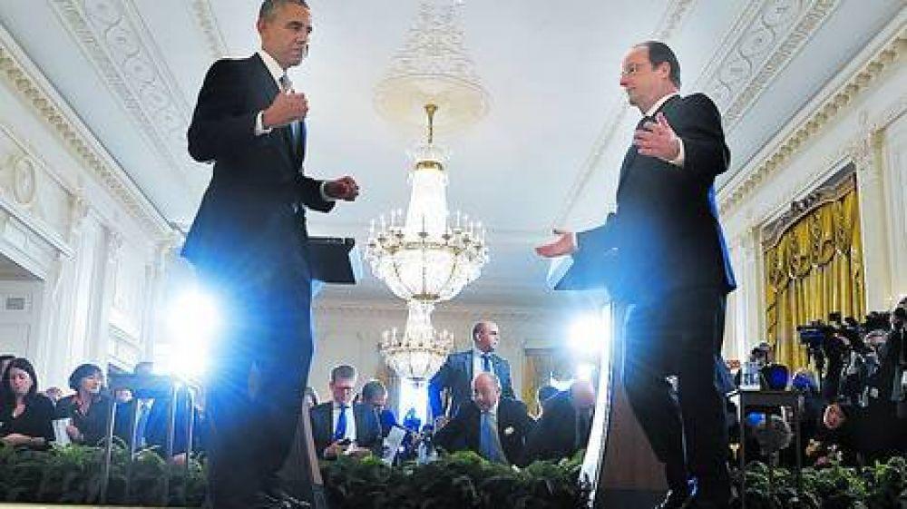Una cena de gala cierra una alianza entre Obama y Hollande