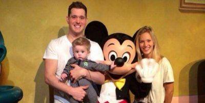 Luisana Lopilato, Michael Bublé y su hijo Noah visitaron Disney