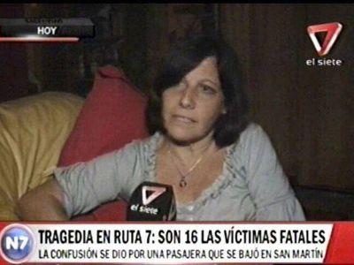 Tragedia en Mendoza: dio su testimonio la pasajera que se salvó porque bajó antes del micro