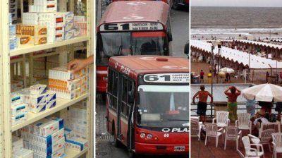Medicamentos, aumento de colectivos y alojamientos tur�sticos, impulsaron la inflaci�n