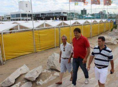 Contartese y Amud evaluaron con Iriart la temporada veraniega en Punta Mogotes