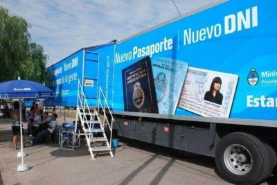 Hasta fin de mes estarán los camiones para hacer el DNI y pasaporte