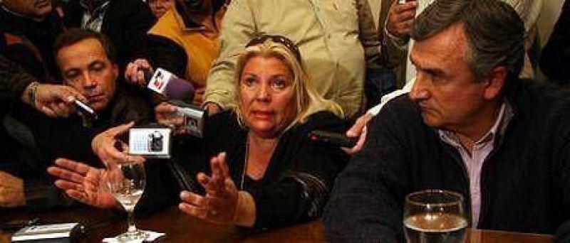 Carrió y Morales apoyaron a Giustiniani en Santa Fe