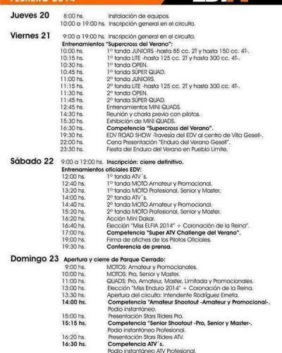 """Comienza el """"Enduro del Verano – Villa Gesell 2014""""."""