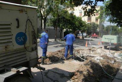 La SAT realiza reparaciones en la red de distribución de agua potable