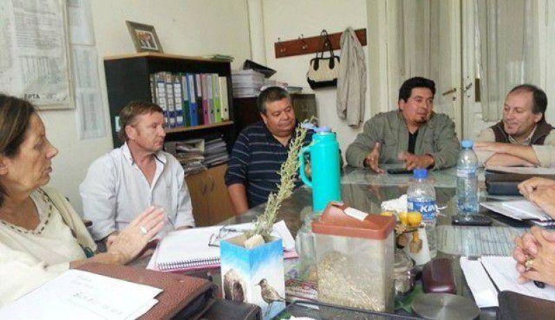 Concejales del FPV/PJ con el Sindicato de Municipales
