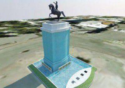 Hoy comienzan a remodelar el monumento a San Martín
