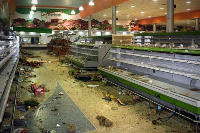 Los saqueos y barricadas comienzan a aparecer en Venezuela