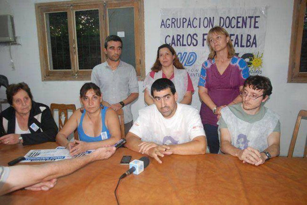 """Agrupación Fuentealba: """"se hace el paro con UTELPA o sin UTELPA"""""""