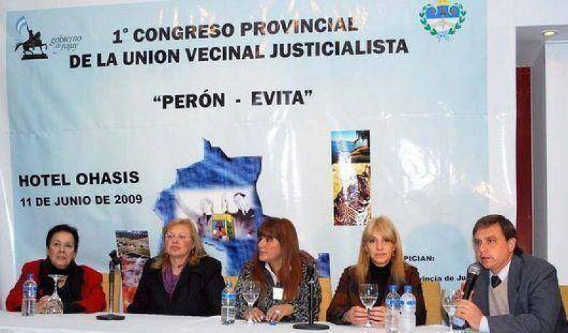 Congreso provincial de la Union Vecinal del PJ
