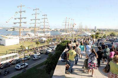 Los grandes veleros fueron visitados por 40 mil personas