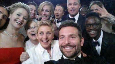 Ellen DeGeneres tomó una autofoto en los Oscar que se convirtió en récord en Twitter