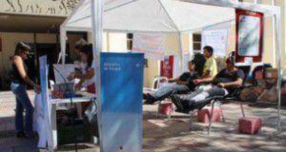 El banco de sangre recaudó 7 litros en Guaymallén