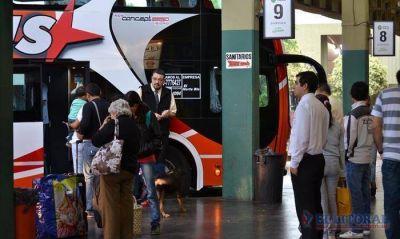 M�s de 1.500 �mnibus pasaron por la terminal durante el fin de semana