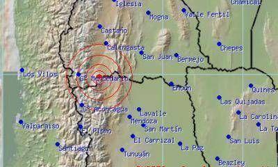 Se registró un sismo en el límite entre Mendoza y San Juan