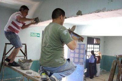 Gabriel Katopodis recorrió distintas obras en escuelas de San Martín
