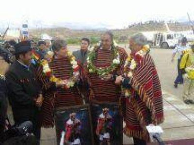 Rodolfo Urtubey estuvo en la inauguración del Monumento al General Belgrano en Bolivia