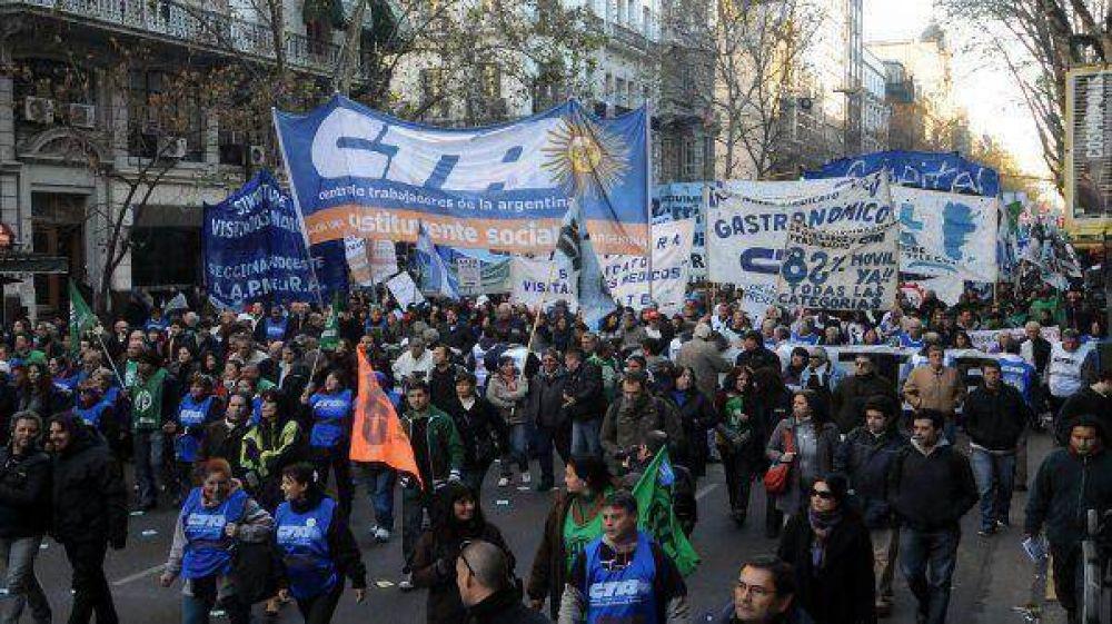 La CTA ratificó el paro nacional en reclamo de aumentos del 35%