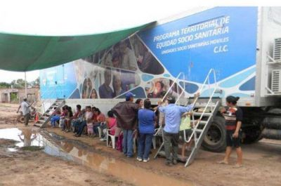 Más de 3 mil personas atendidas por las unidades sanitarias móviles