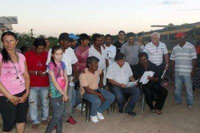 El diputado Acosta se reunió con la comunidad indígena de Castelli