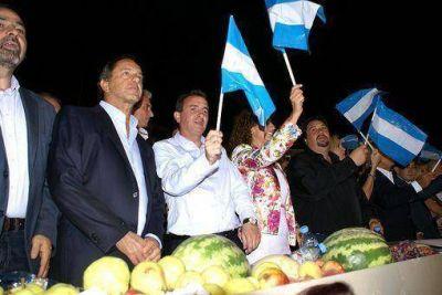 Closs junto a Scioli y Pérez
