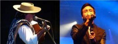 Luciano Pereyra y Carlos Ramón Fernández en la noche inicial de la XXII Fiesta de la Guitarra