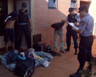 Detuvieron a dos hombres por un robo en un barrio de San Vicente