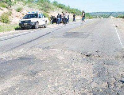 Tremendo accidente por desastroso estado de la ruta