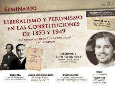 Dante Palma disertará en Formosa sobre Liberalismo y Peronismo en las Constituciones de 1853 y 1949