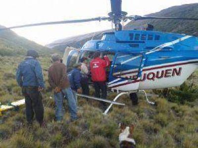 Milagro en Laguna Hualcupen: Exitoso rescate de un poblador que sufrió un ACV y cayó de un caballo